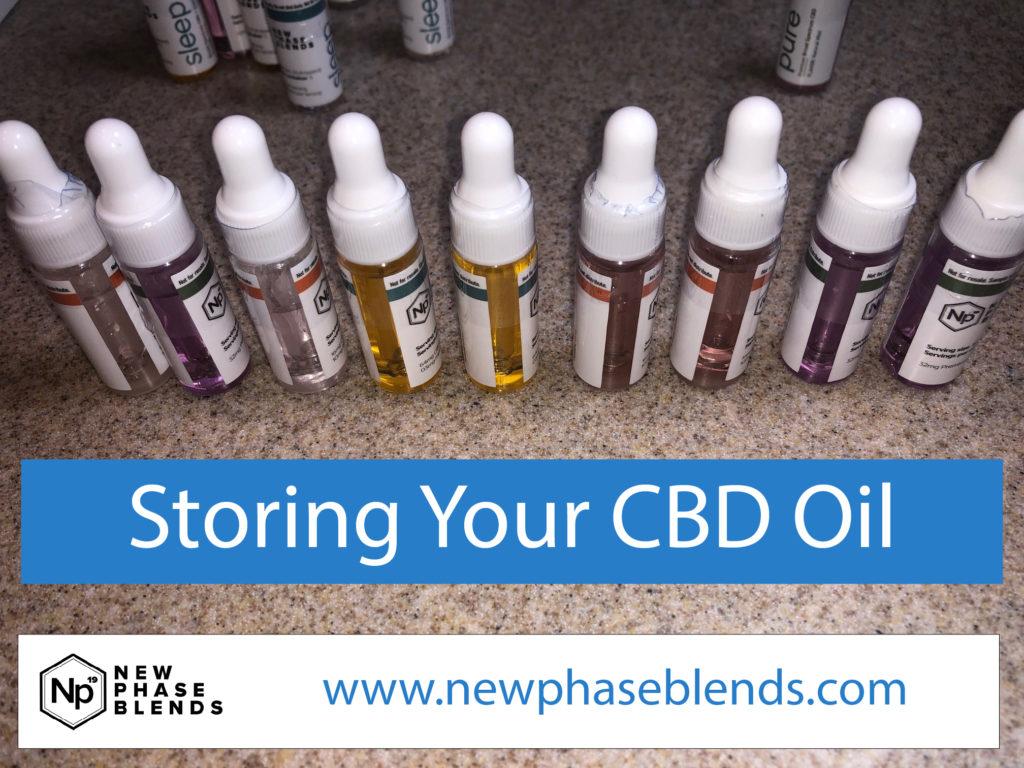 storing your cbd oil