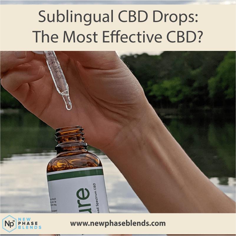 Sublingual CBD drops are the most effective