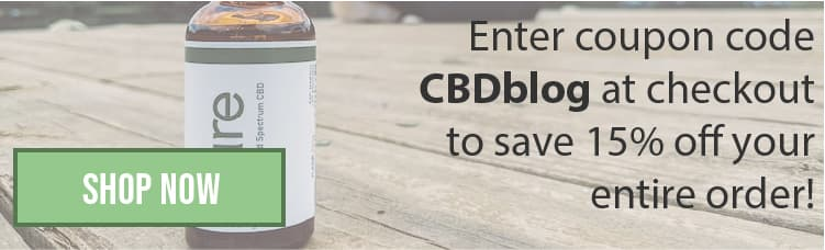 CBD products discount banner