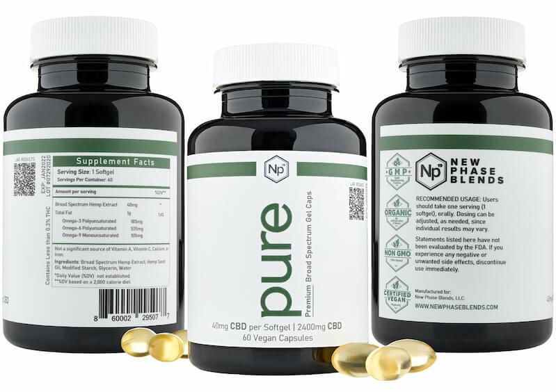 vegan CBD softgel label
